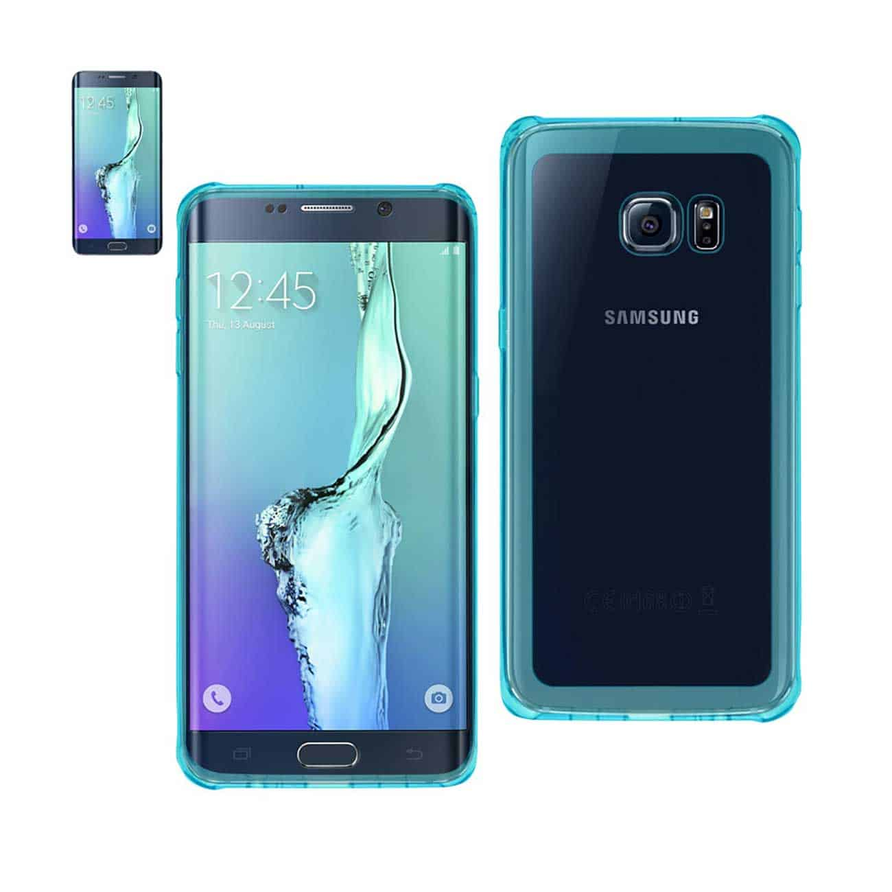 SAMSUNG GALAXY S6 EDGE PLUS MIRROR EFFECT CASE WITH AIR CUSHION PROTECTION IN CLEAR NAVY