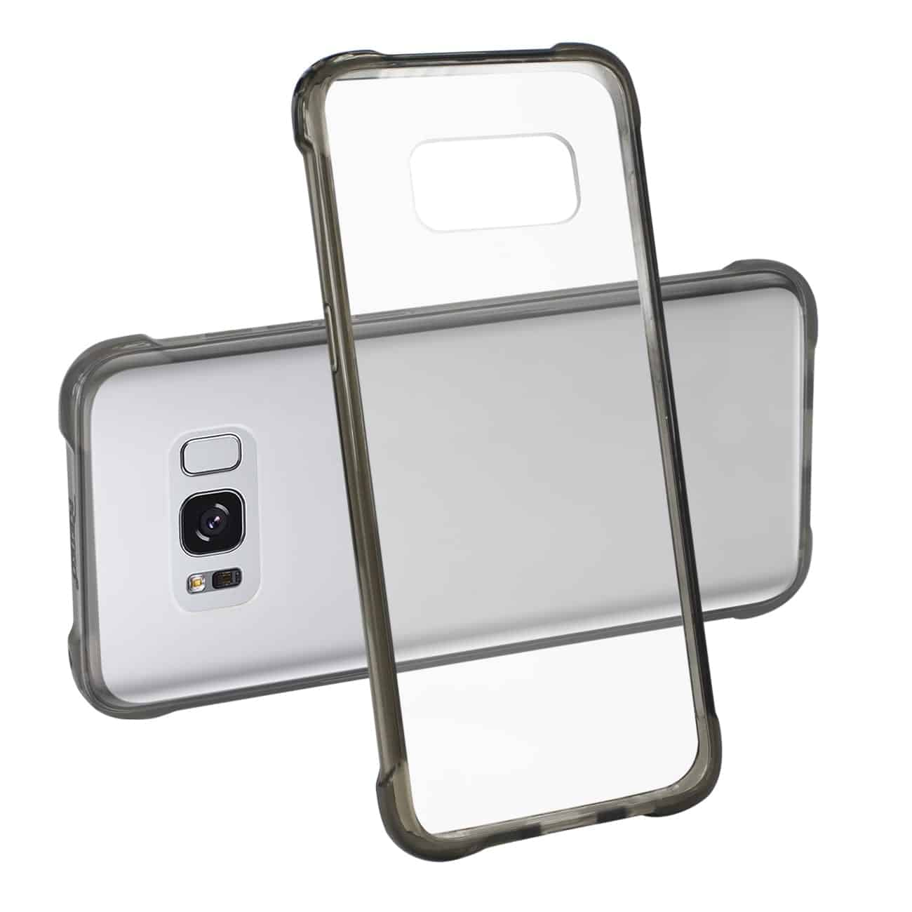Samsung Galaxy S8 Edge/ S8 Plus Clear Bumper Case With Air Cushion Protection In Clear Black