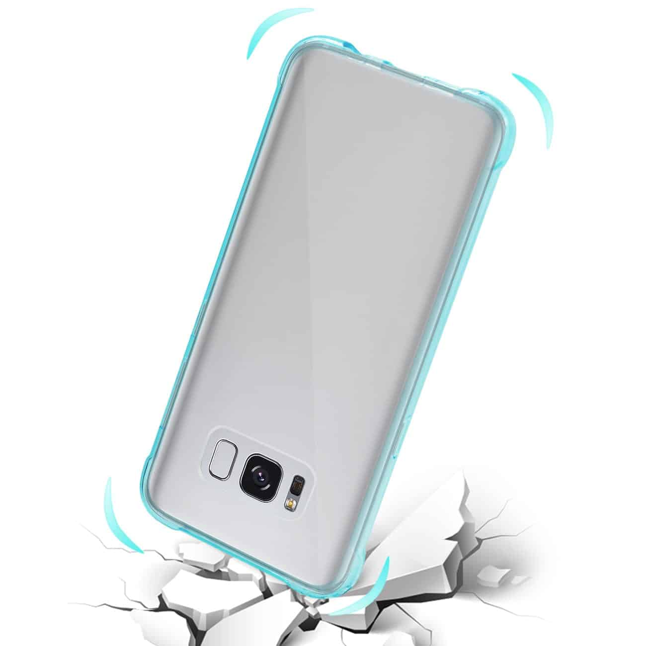 Samsung Galaxy S8 Edge/ S8 Plus Clear Bumper Case With Air Cushion Protection In Clear Navy