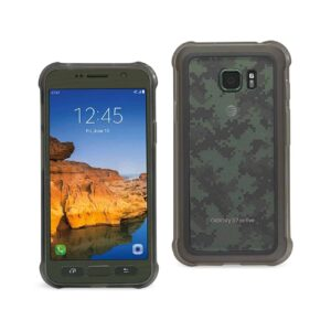 SAMSUNG GALAXY S7 ACTIVE CLEAR BUMPER CASE WITH AIR CUSHION PROTECTION IN CLEAR BLACK