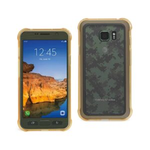 SAMSUNG GALAXY S7 ACTIVE CLEAR BUMPER CASE WITH AIR CUSHION PROTECTION IN CLEAR GOLD