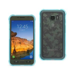 SAMSUNG GALAXY S7 ACTIVE CLEAR BUMPER CASE WITH AIR CUSHION PROTECTION IN CLEAR NAVY