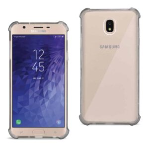 Samsung J7(2018) Clear Bumper Case With Air Cushion Protection In Clear Black