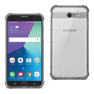Samsung Galaxy J7 V (2017) Clear Bumper Case With Air Cushion Protection In Clear Black