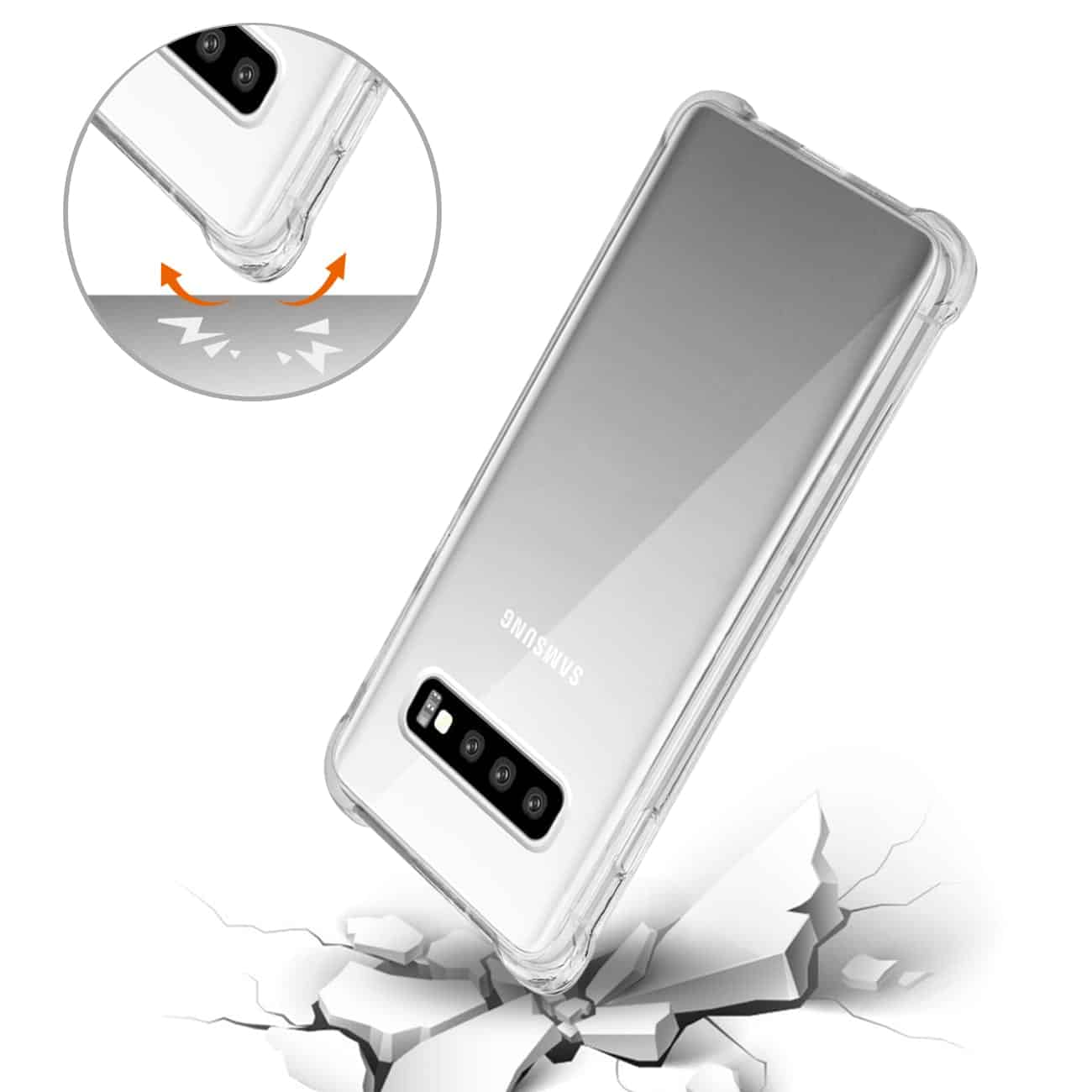 SAMSUNG GALAXY S10 Clear Bumper Case With Air Cushion Protection