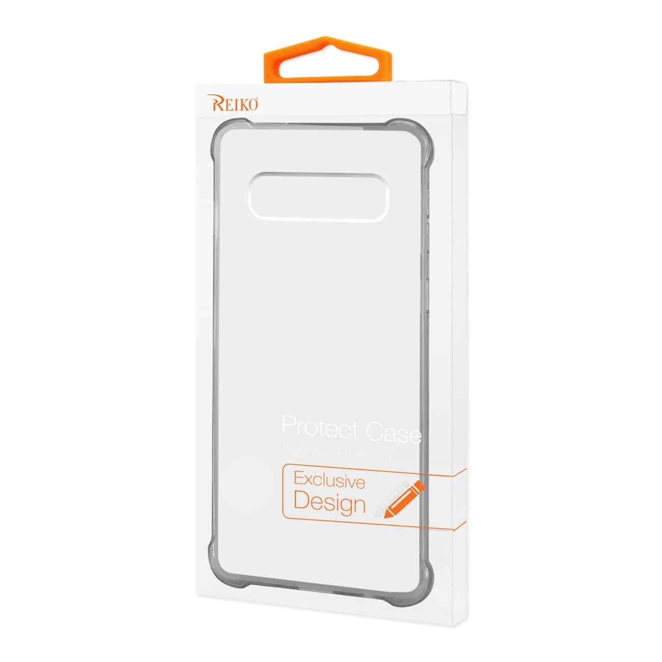 SAMSUNG GALAXY S10 Clear Bumper Case With Air Cushion Protection In Clear Black