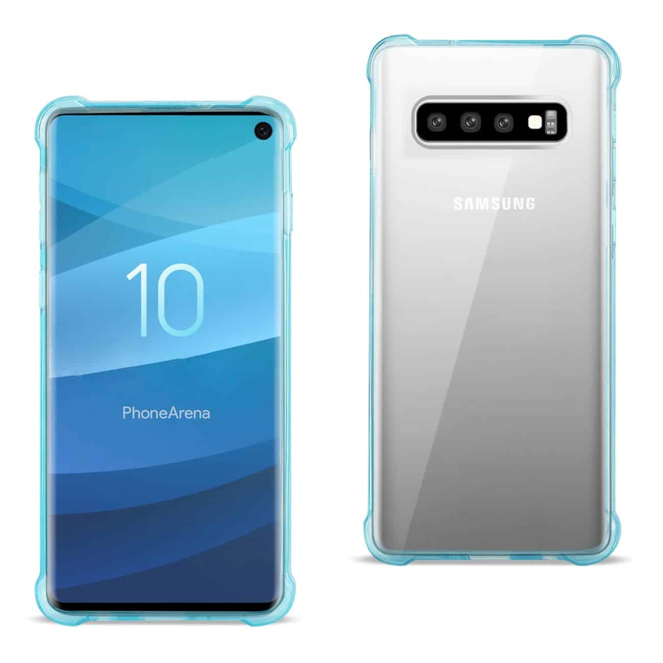 SAMSUNG GALAXY S10 Clear Bumper Case With Air Cushion Protection In Clear Navy
