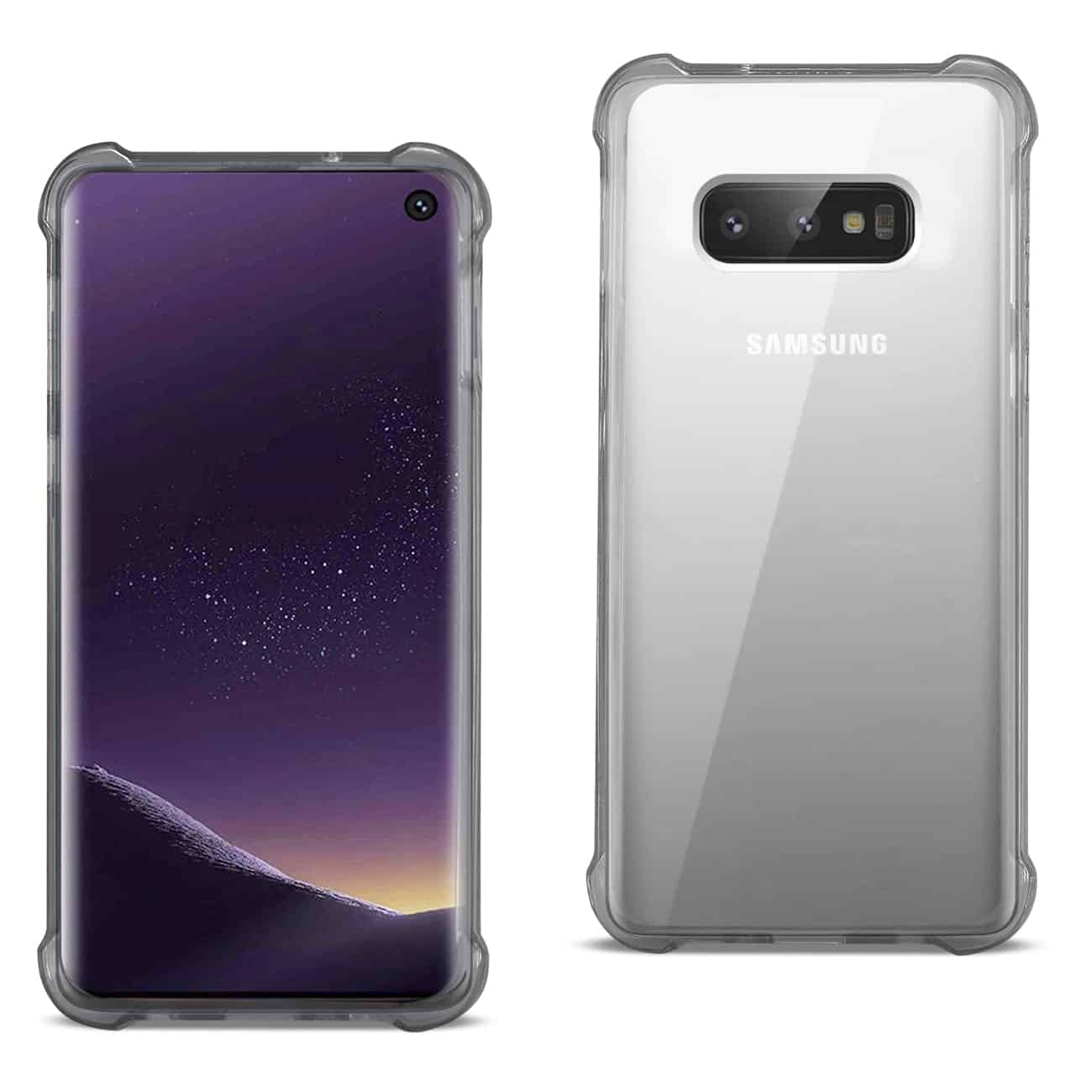 SAMSUNG GALAXY S10 Lite(S10e) Clear Bumper Case With Air Cushion Protection In Clear Black