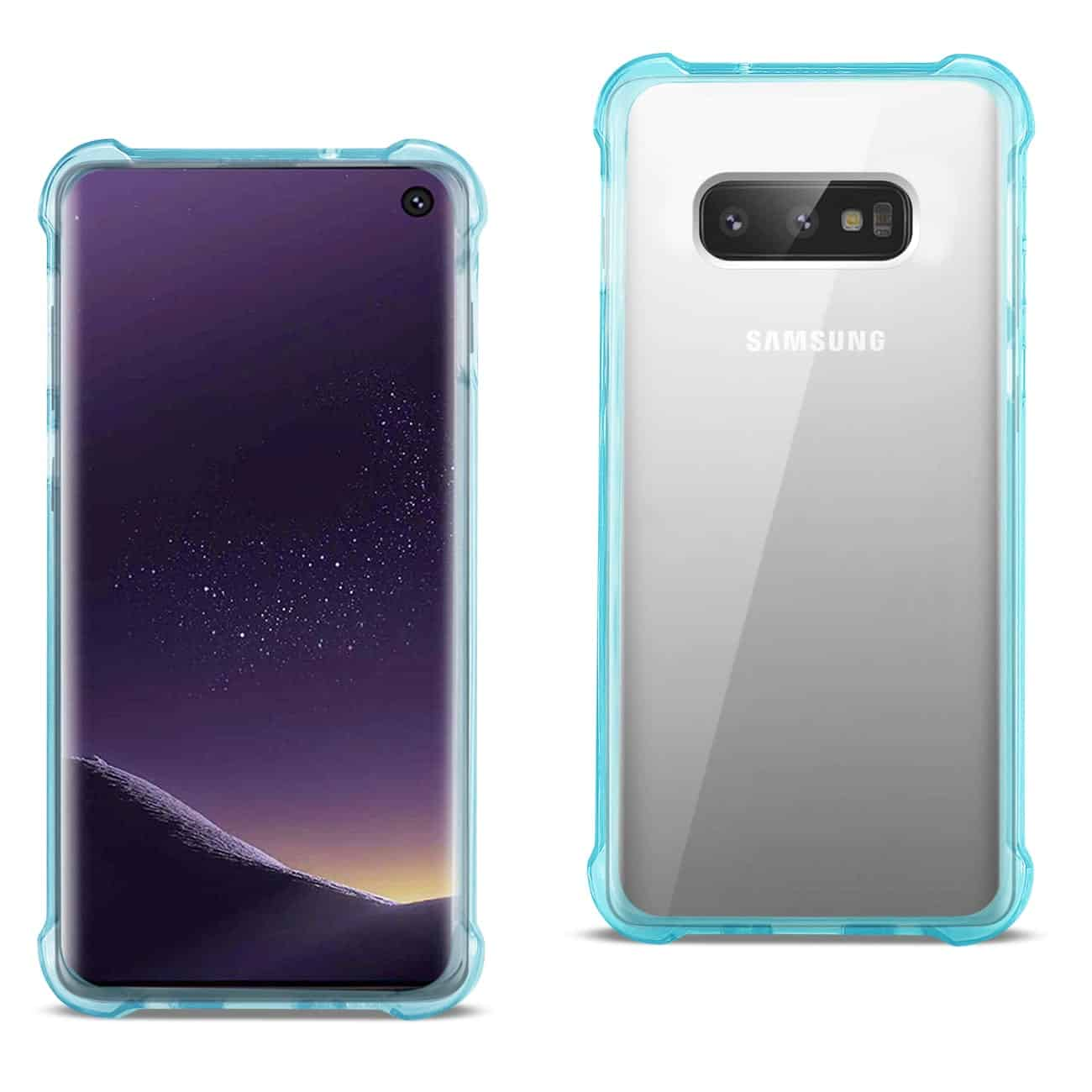 SAMSUNG GALAXY S10 Lite(S10e) Clear Bumper Case With Air Cushion Protection In Clear Navy