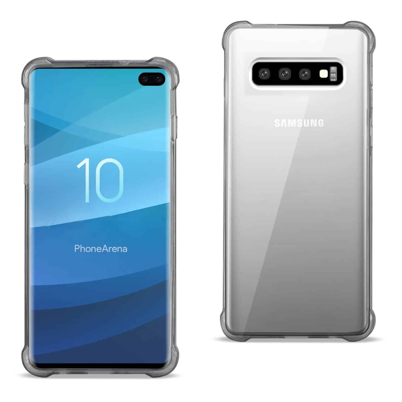 SAMSUNG GALAXY S10 Plus Clear Bumper Case With Air Cushion Protection In Clear Black