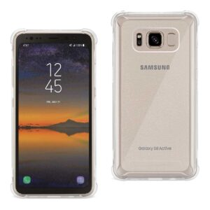 SAMSUNG GALAXY S8 ACTIVE CLEAR BUMPER CASE WITH AIR CUSHION PROTECTION IN CLEAR