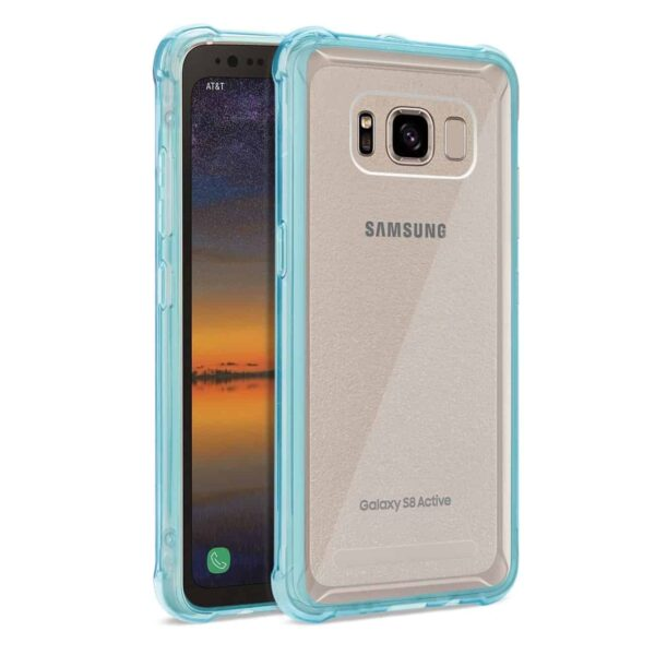 SAMSUNG GALAXY S8 ACTIVE CLEAR BUMPER CASE WITH AIR CUSHION PROTECTION IN CLEAR NAVY