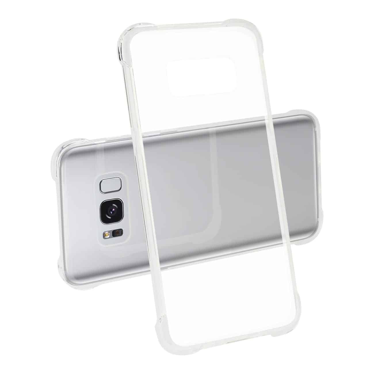 Samsung Galaxy S8 Clear Bumper Case With Air Cushion Protection In Clear