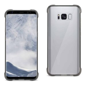 Samsung Galaxy S8 Clear Bumper Case With Air Cushion Protection In Clear Black
