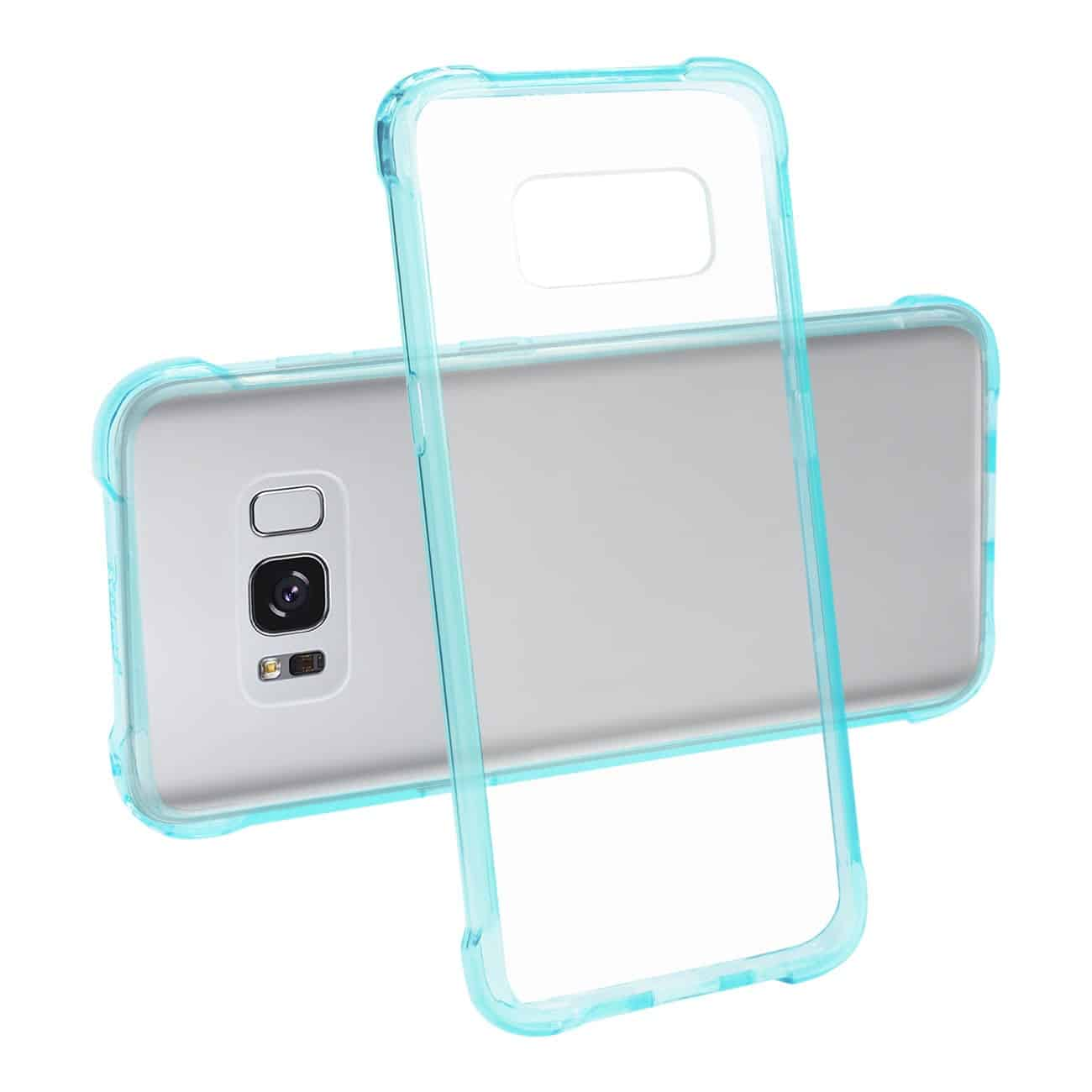 SAMSUNG GALAXY S8 CLEAR BUMPER CASE WITH AIR CUSHION PROTECTION IN CLEAR NAVY