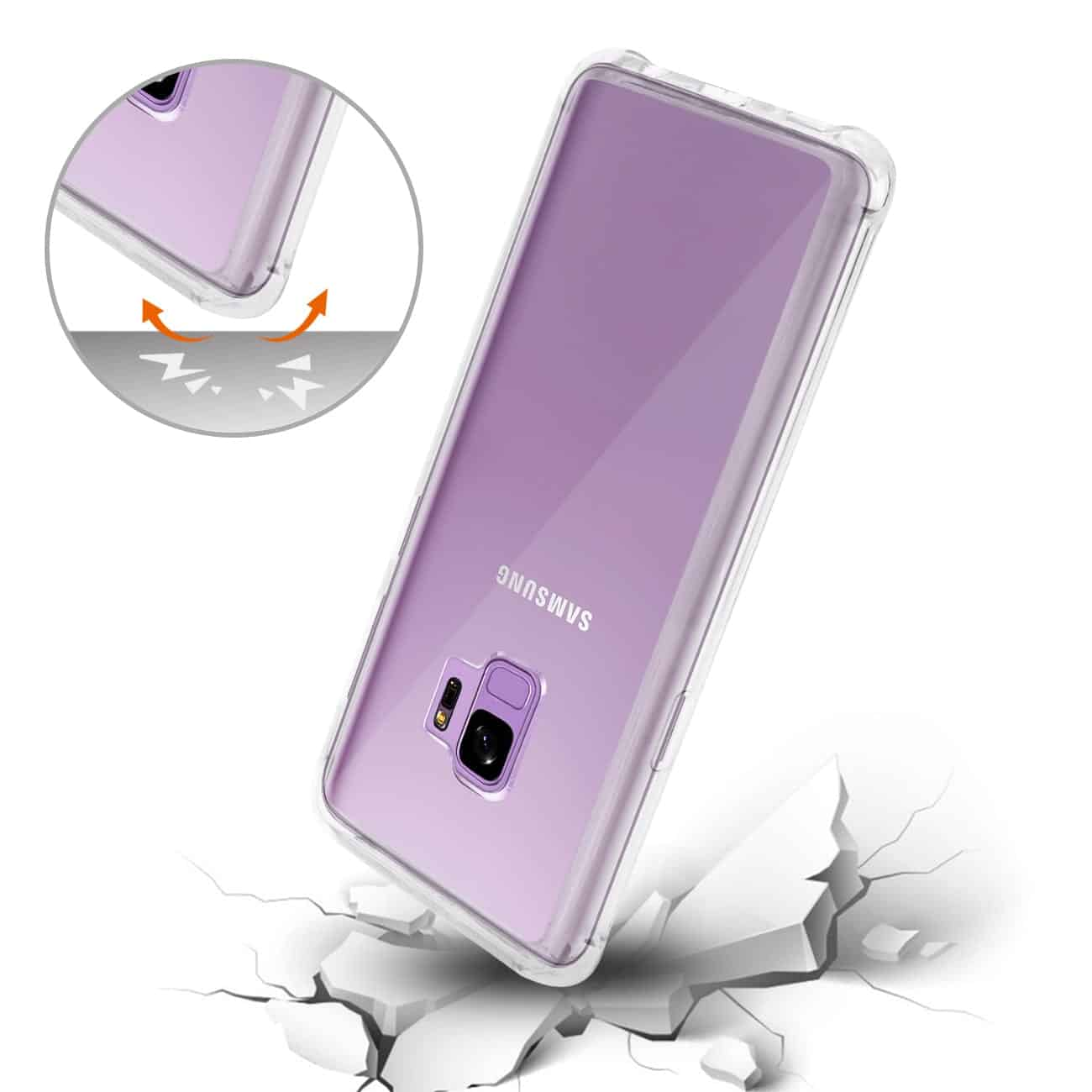 Samsung Galaxy S9 Clear Bumper Case With Air Cushion Protection In Clear