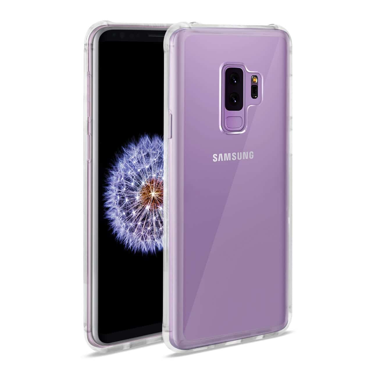 Samsung Galaxy S9 Plus Clear Bumper Case With Air Cushion Protection In Clear
