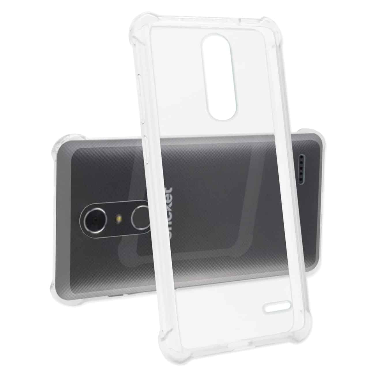 ZTE GRAND X4 BUMPER CASE WITH AIR CUSHION PROTECTION IN CLEAR
