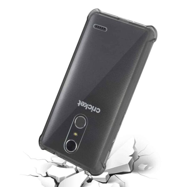 ZTE GRAND X4 BUMPER CASE WITH AIR CUSHION PROTECTION IN CLEAR BLACK