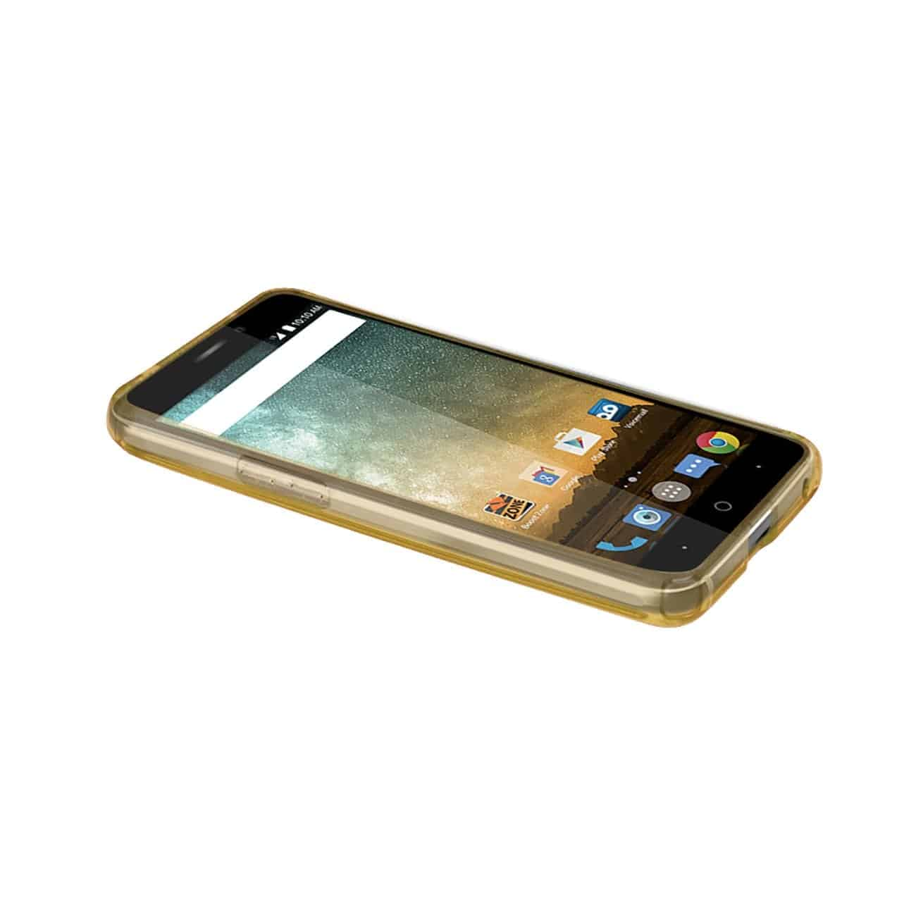 ZTE PRESTIGE MIRROR EFFECT CASE WITH AIR CUSHION PROTECTION IN CLEAR GOLD
