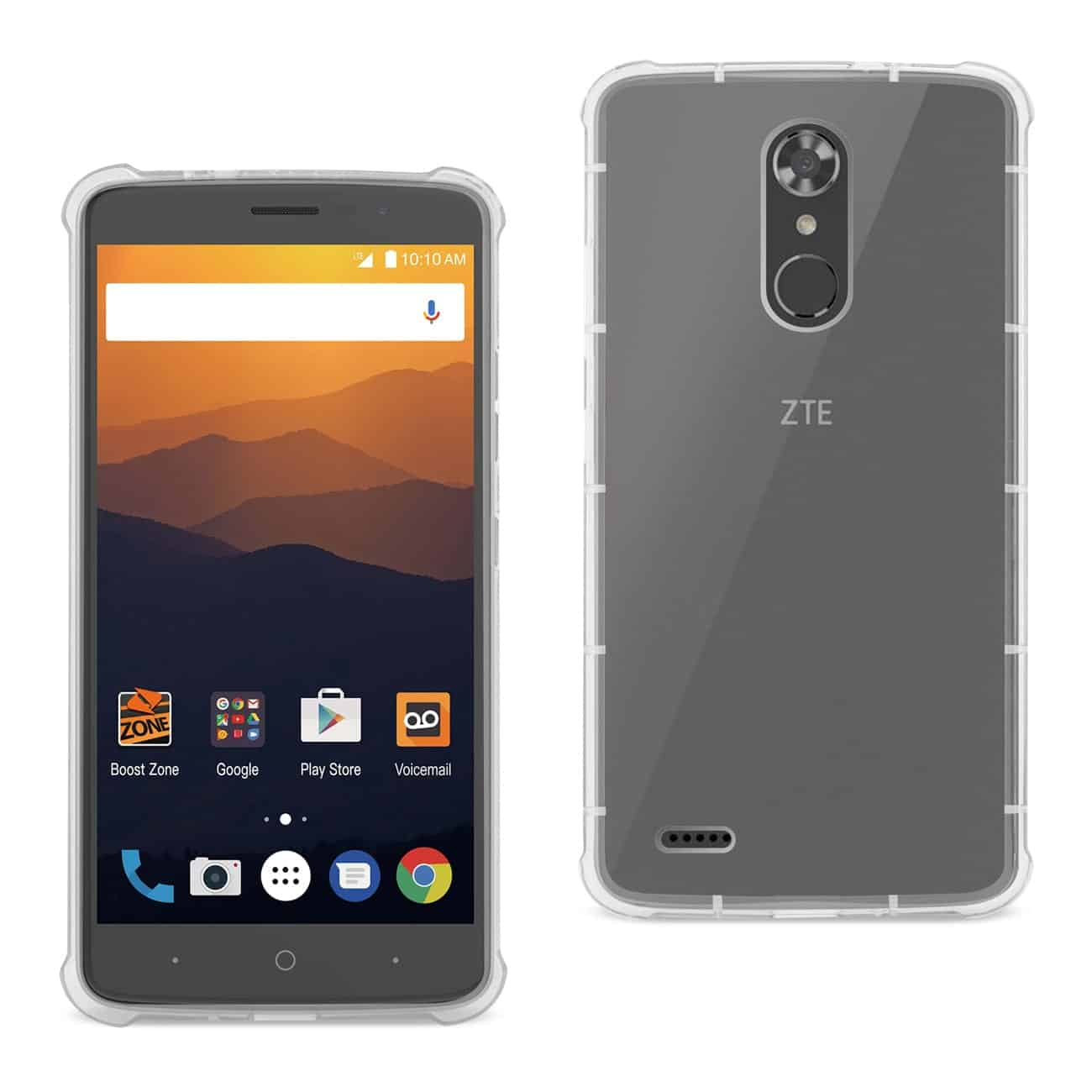 ZTE MAX XL/ N9560 CLEAR BUMPER CASE WITH AIR CUSHION PROTECTION IN CLEAR