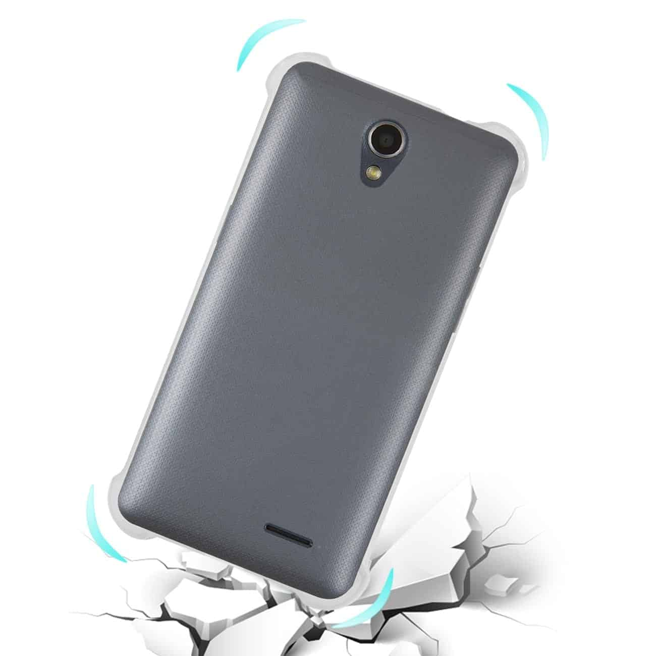 ZTE MAVEN 2/ CHAPEL (Z831) CLEAR BUMPER CASE WITH AIR CUSHION PROTECTION IN CLEAR