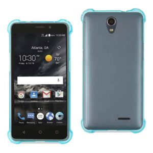 ZTE MAVEN 2/ CHAPEL (Z831) CLEAR BUMPER CASE WITH AIR CUSHION PROTECTION IN CLEAR NAVY