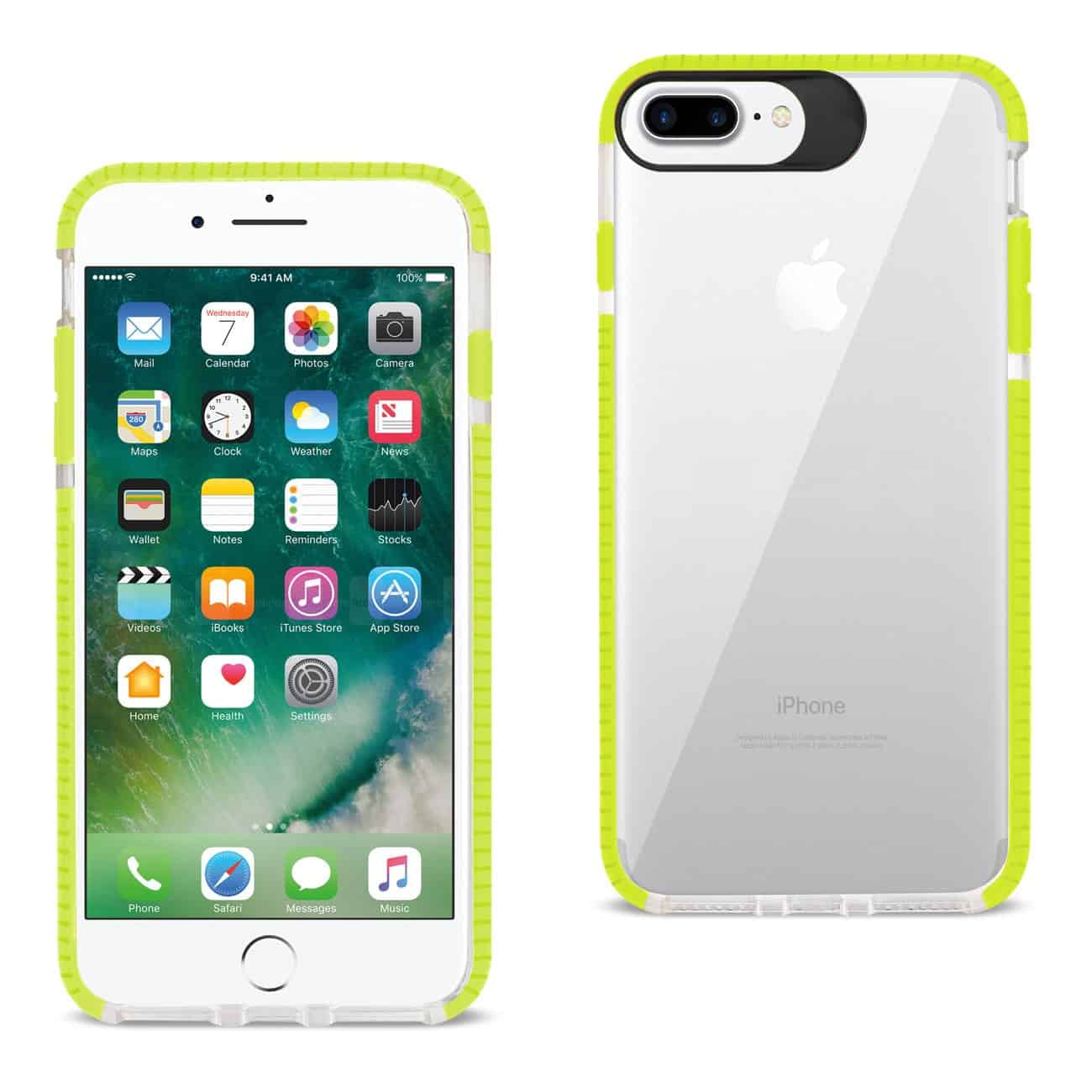 iPhone 8 Plus/ 7 Plus Soft Transparent TPU Case In Clear Green