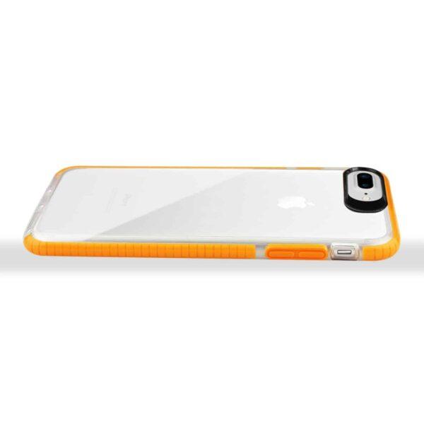 iPhone 8 Plus/ 7 Plus Soft Transparent TPU Case In Clear Orange