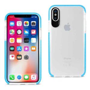 IPHONE X SOFT TRANSPARENT TPU CASE IN CLEAR BLUE