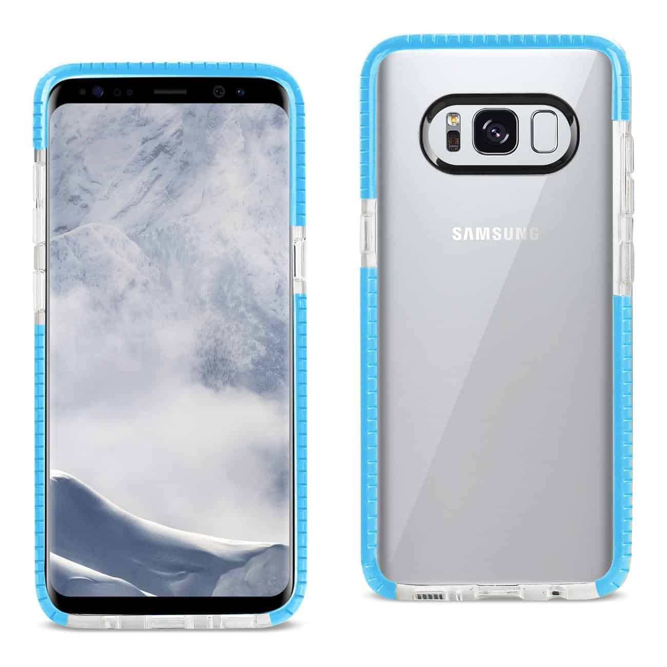 SAMSUNG GALAXY S8 EDGE/ S8 PLUS SOFT TRANSPARENT TPU CASE IN CLEAR BLUE