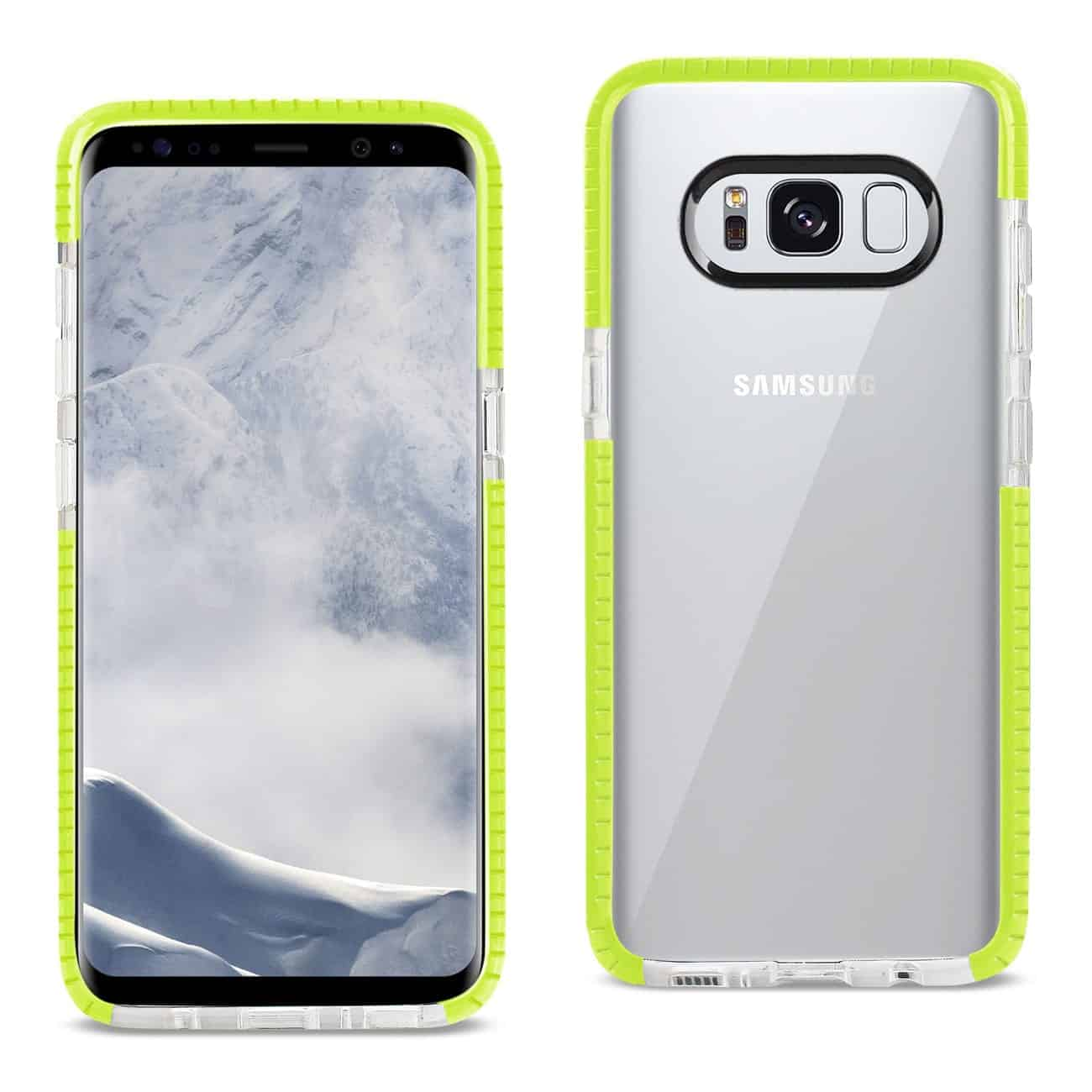 SAMSUNG GALAXY S8 EDGE/ S8 PLUS SOFT TRANSPARENT TPU CASE IN CLEAR GREEN