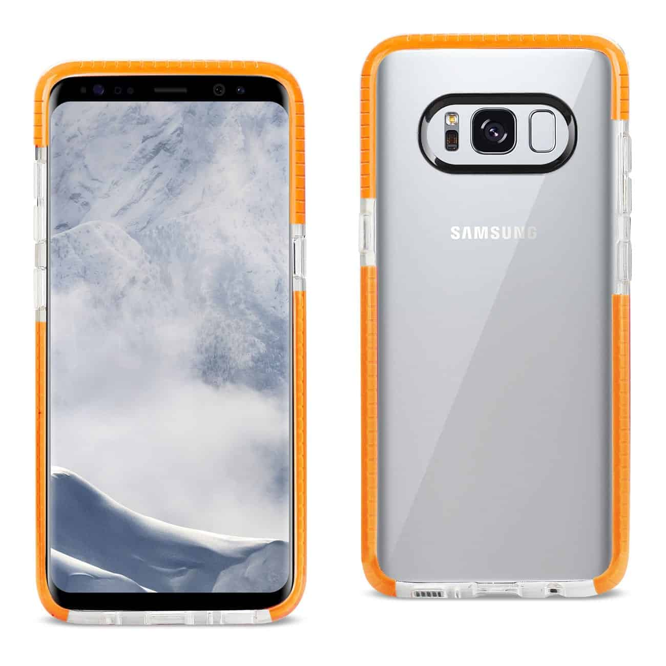 SAMSUNG GALAXY S8 EDGE/ S8 PLUS SOFT TRANSPARENT TPU CASE IN CLEAR ORANGE