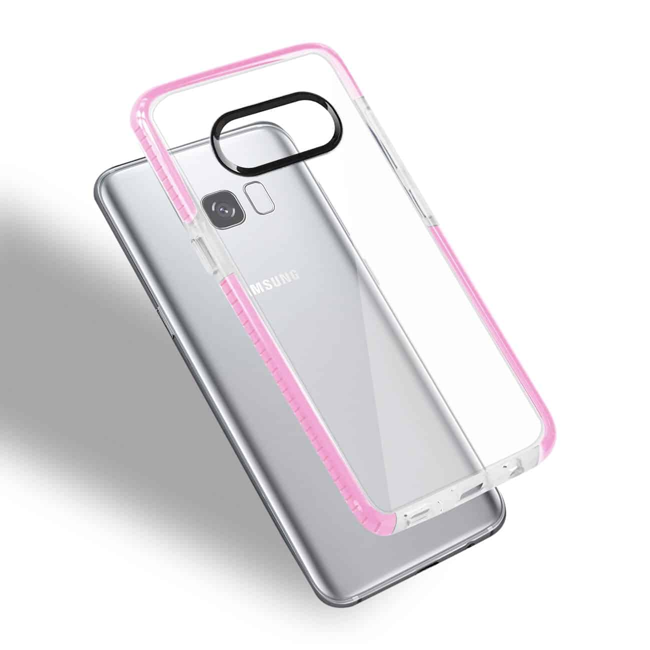 SAMSUNG GALAXY S8 EDGE/ S8 PLUS SOFT TRANSPARENT TPU CASE IN CLEAR PINK