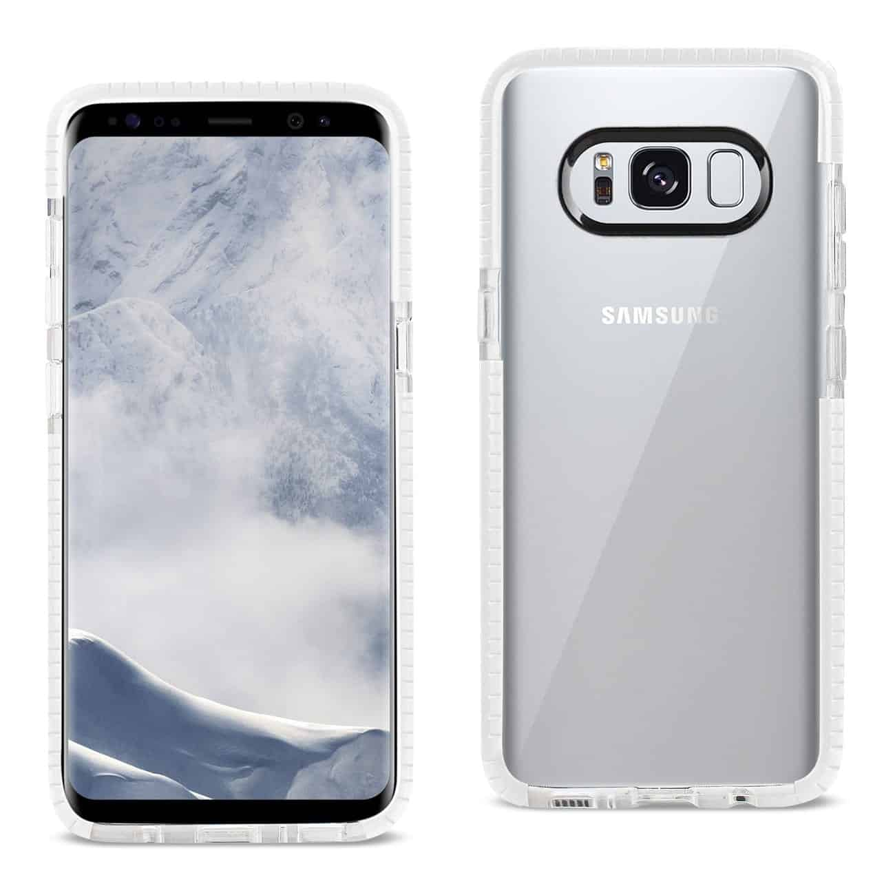 SAMSUNG GALAXY S8 EDGE/ S8 PLUS SOFT TRANSPARENT TPU CASE IN CLEAR WHITE