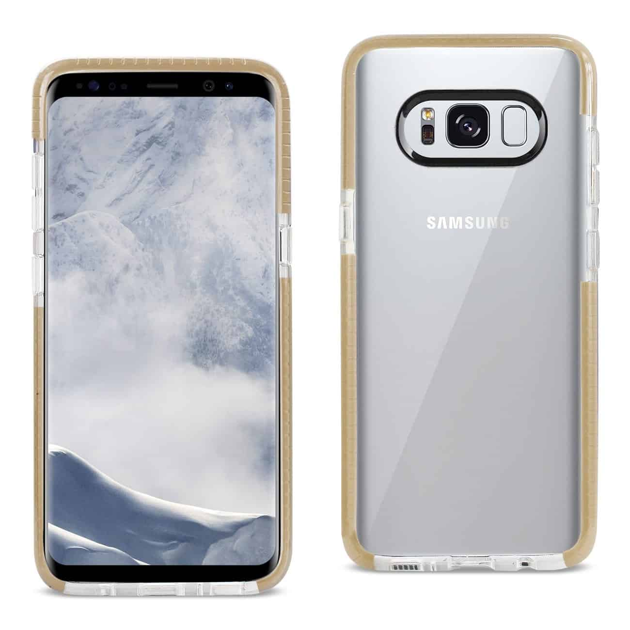 SAMSUNG GALAXY S8/ SM SOFT TRANSPARENT TPU CASE IN CLEAR GOLD