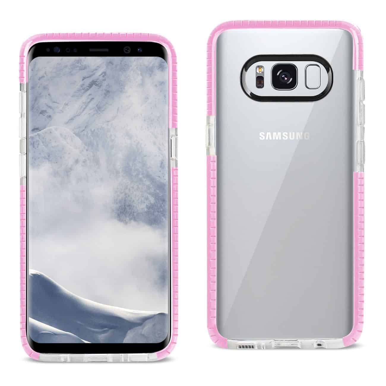 SAMSUNG GALAXY S8/ SM SOFT TRANSPARENT TPU CASE IN CLEAR PINK