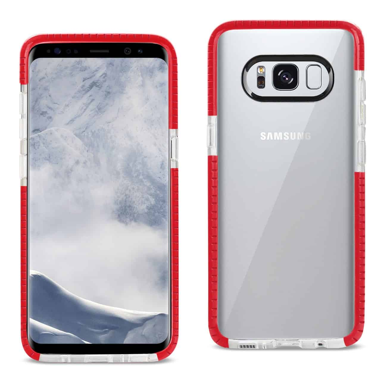 SAMSUNG GALAXY S8/ SM SOFT TRANSPARENT TPU CASE IN CLEAR RED