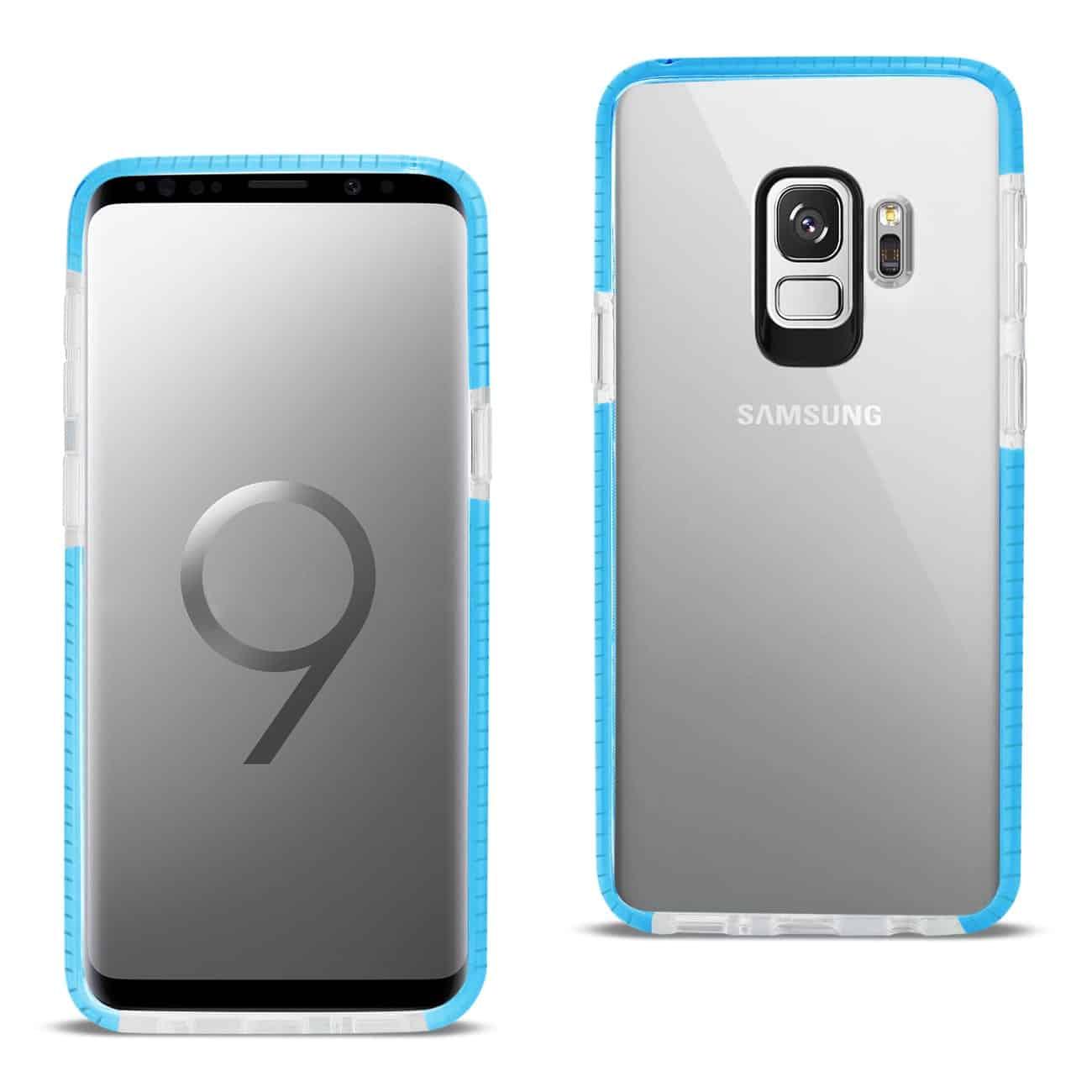 Samsung Galaxy S9 Soft Transparent TPU Case In Clear Blue
