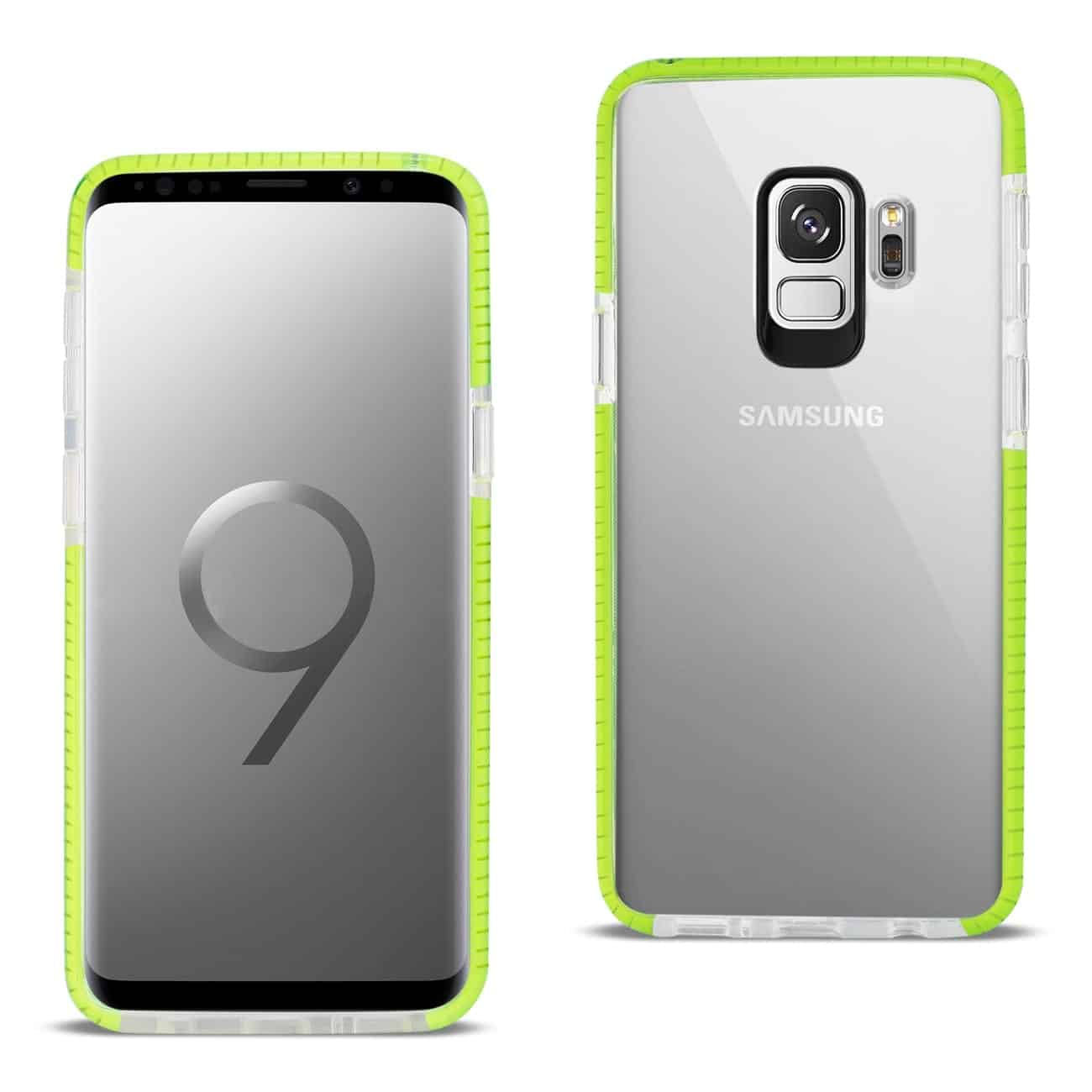 Samsung Galaxy S9 Soft Transparent TPU Case In Clear Green