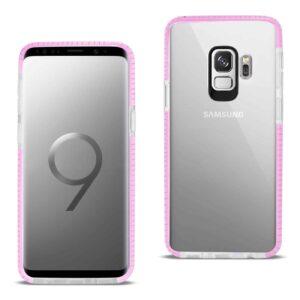 Samsung Galaxy S9 Soft Transparent TPU Case In Clear Pink