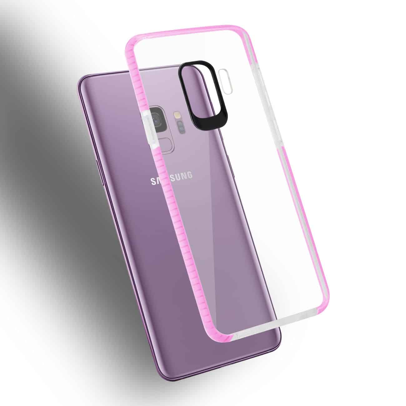Samsung Galaxy S9 Soft Transparent TPU Case In Clear Pink