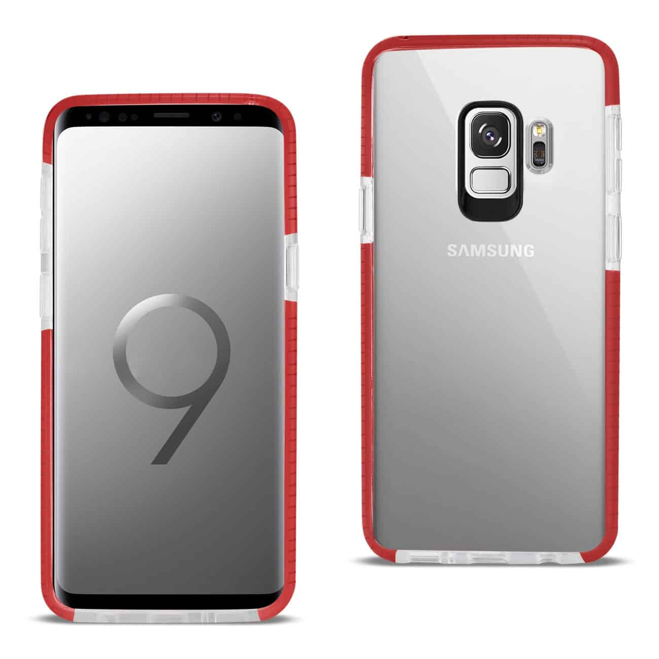 Samsung Galaxy S9 Soft Transparent TPU Case In Clear Red