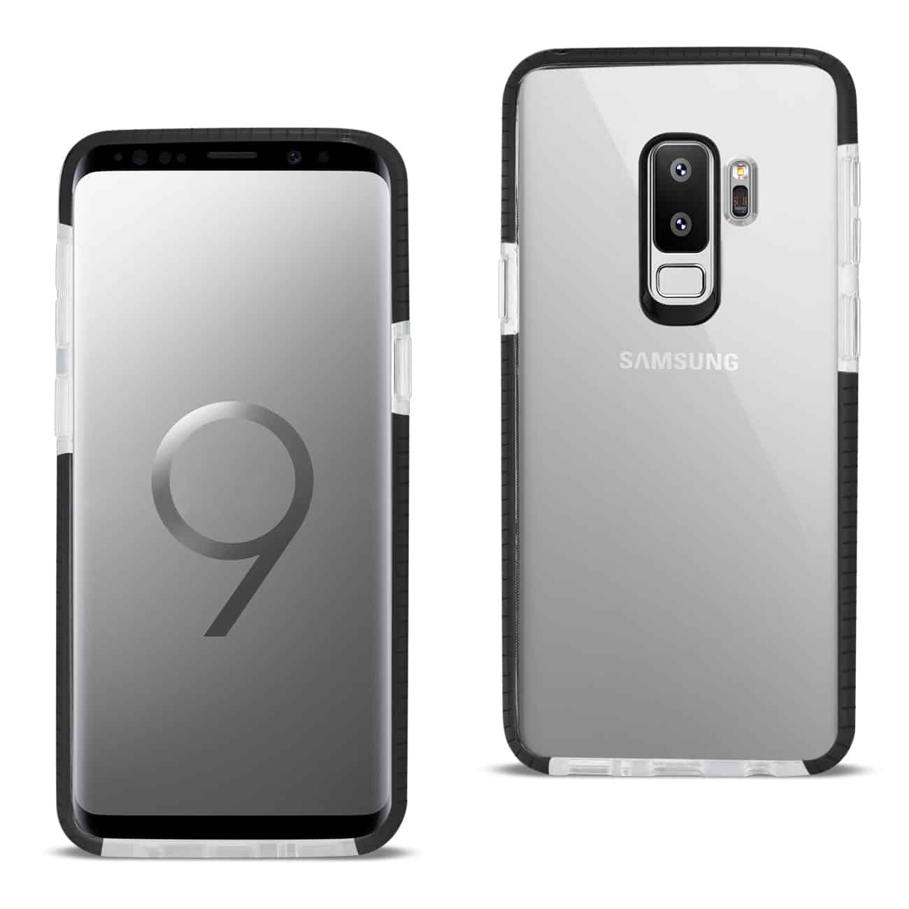 Samsung Galaxy S9 Plus Soft Transparent TPU Case In Clear Black
