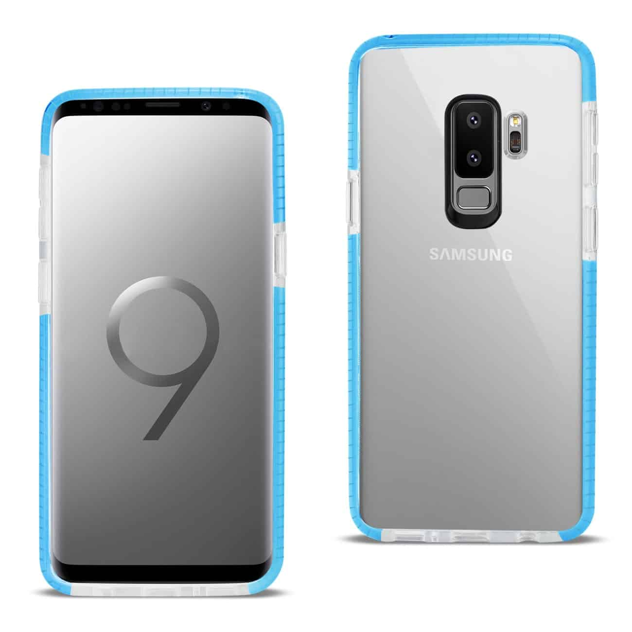 Samsung Galaxy S9 Plus Soft Transparent TPU Case In Clear Blue