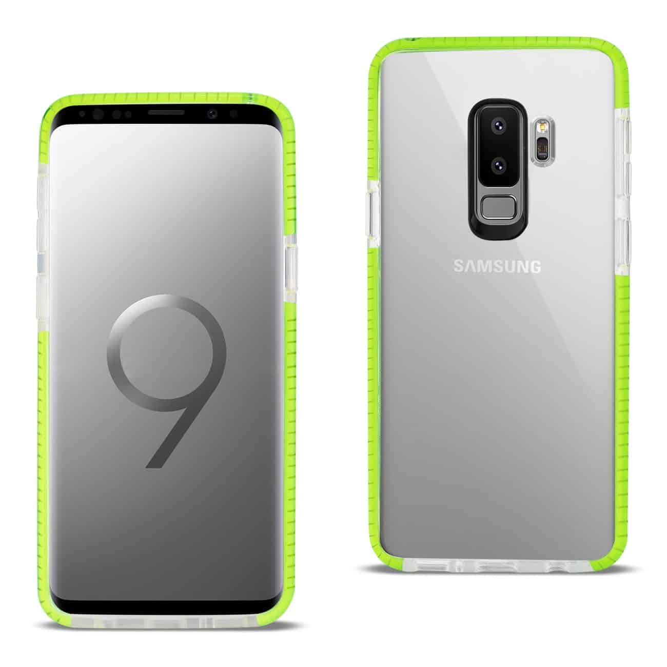 Samsung Galaxy S9 Plus Soft Transparent TPU Case In Clear Green