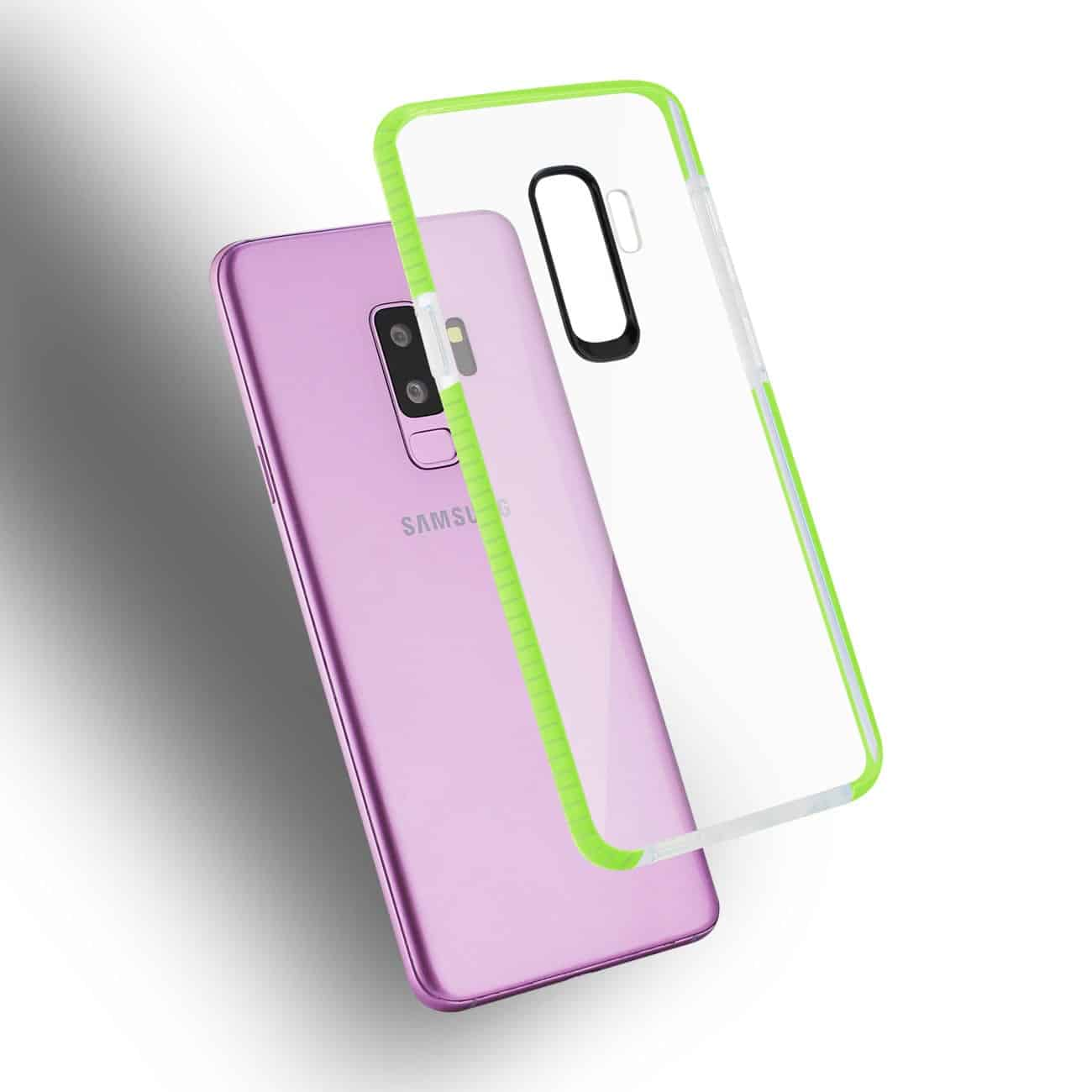 Samsung Galaxy S9 Plus Soft Transparent TPU Case In Clear Green