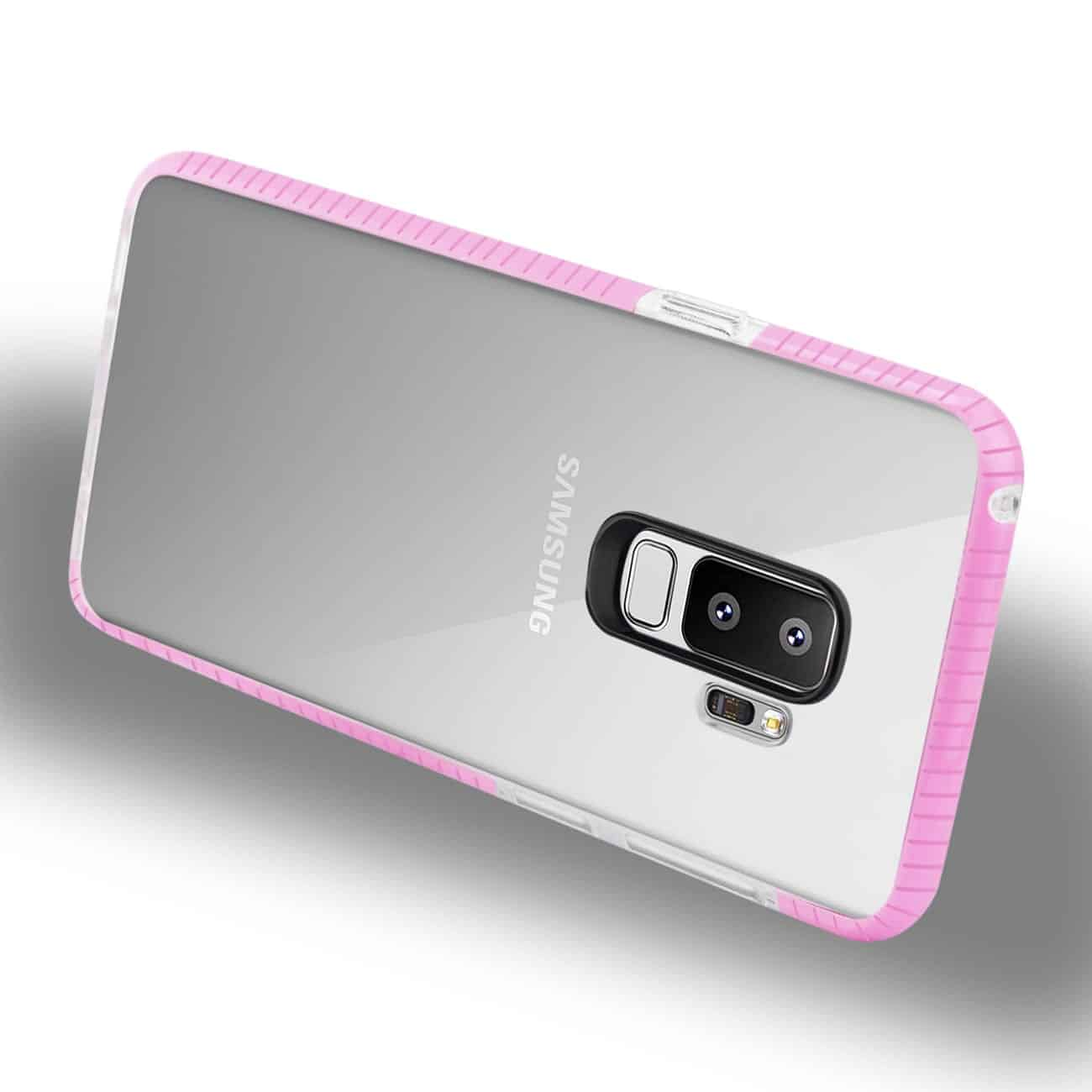 Samsung Galaxy S9 Plus Soft Transparent TPU Case In Clear Pink