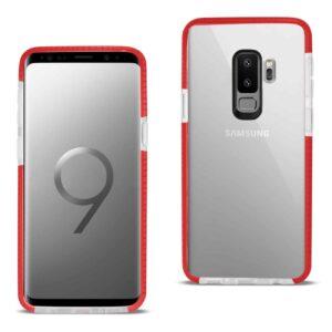 Samsung Galaxy S9 Plus Soft Transparent TPU Case In Clear Red