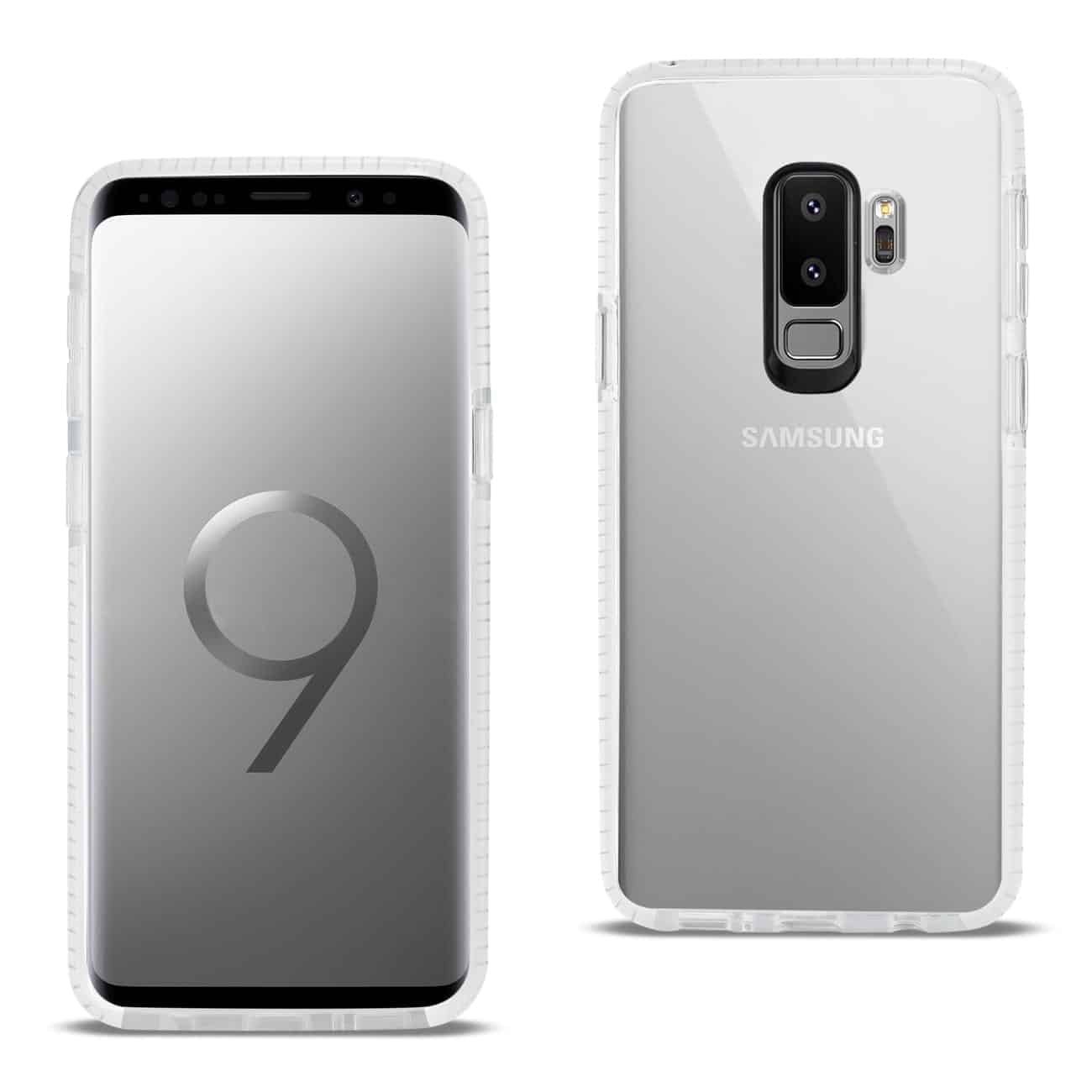 Samsung Galaxy S9 Plus Soft Transparent TPU Case In Clear White